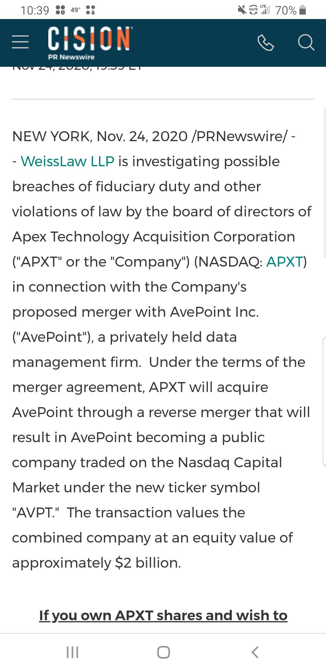 APEX TECHNOLOGY ACQUISITION CORP-0