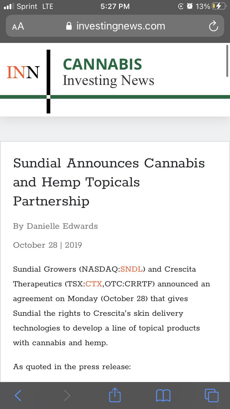 SUNDIAL GROWERS INC.-0