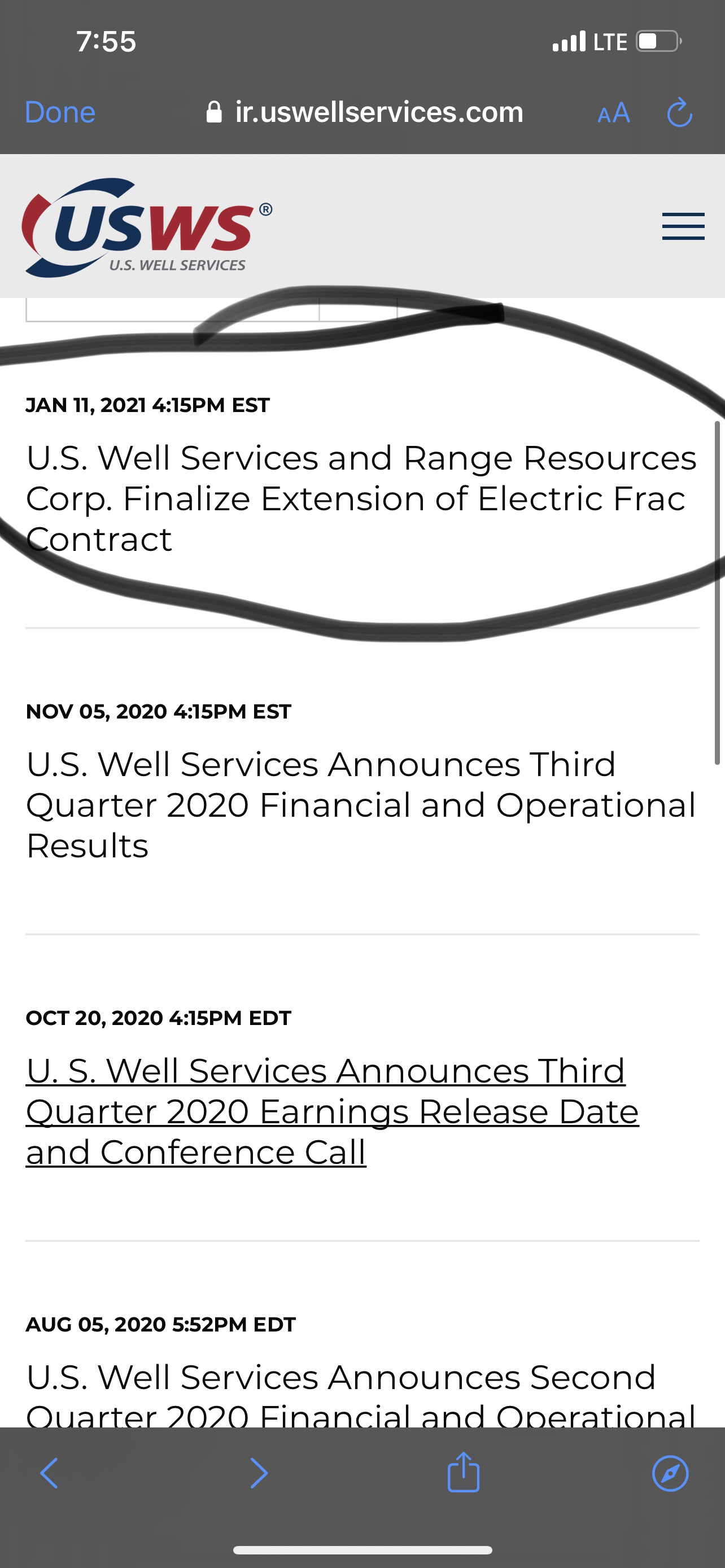 U.S. Well Services Inc-1