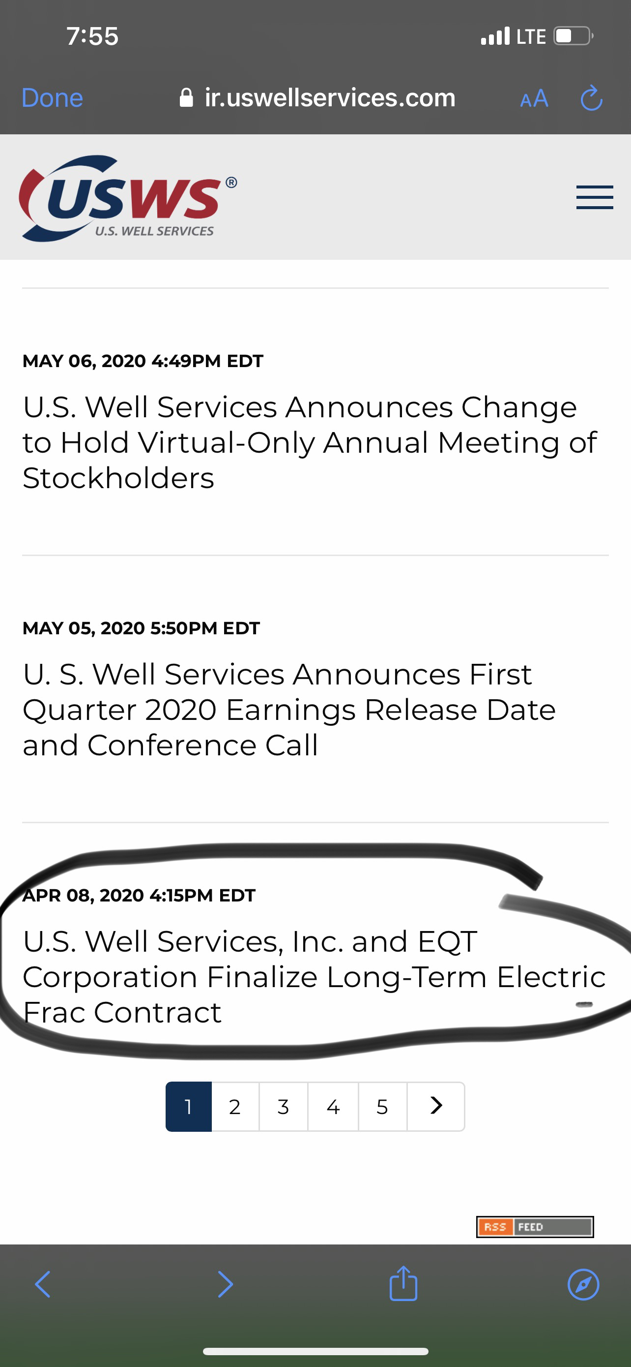 U.S. Well Services Inc-0